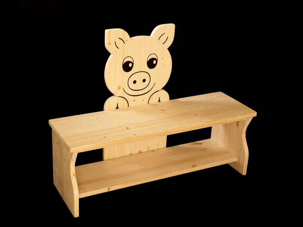 kinderbank schwein aus holz kanaholz. Black Bedroom Furniture Sets. Home Design Ideas