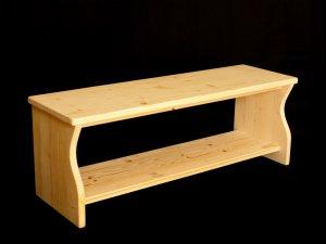 Kinderbank aus Holz, auch als Schuhbank geeignet