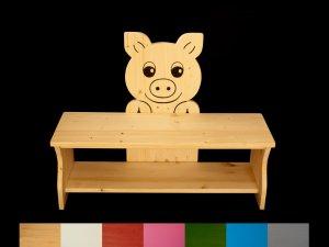 Kinderbank Schwein