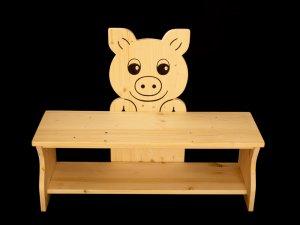 Kindersitzbank Schwein