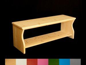 Kindersitzbank aus Holz, auch als Schuhbank geeignet